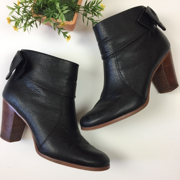kate spade Shoes - Kate Spade Lanise Leather Bow Back Ankle Boots